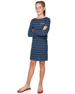 DRESS BLUES STRIPE KIDS GIRLS ROXY DRESSES + PLAYSUITS - ERGKD03080-XBBW