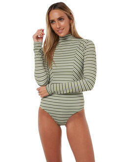 OLIVE STRIPE SURF RASHVESTS RUE STIIC WOMENS - RS118-8-1OLVST
