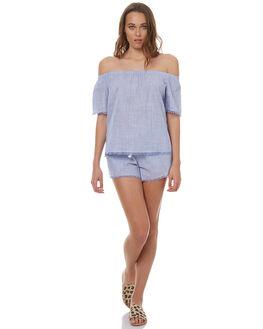 BLUE WOMENS CLOTHING ELWOOD FASHION TOPS - W73308BLUE