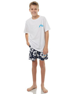 NAVY KIDS BOYS OKANUI BOARDSHORTS - BBHBNV