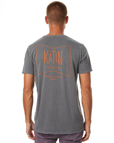 SLATE MENS CLOTHING KATIN TEES - TSGRUH16BLK