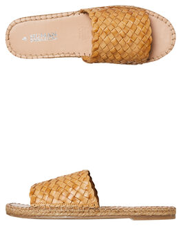 NATURAL WOMENS FOOTWEAR HUMAN FOOTWEAR SLIDES - CHRISSYNAT