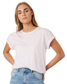 LIGHT PURPLE WOMENS CLOTHING RIP CURL TEES - GTENZ10773