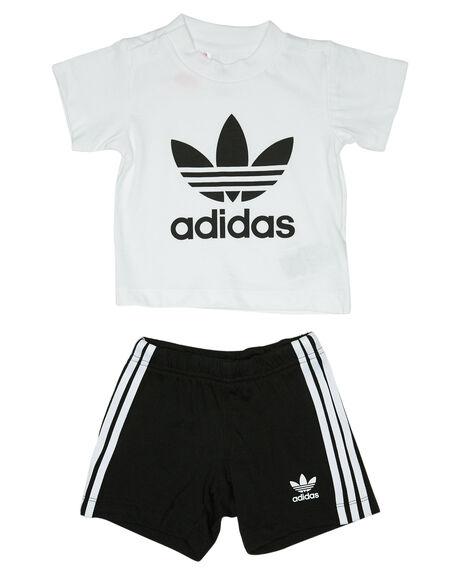 WHITE BLACK KIDS BABY ADIDAS CLOTHING - ED7677WHTBL