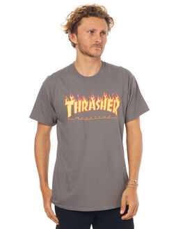 CHARCOAL MENS CLOTHING THRASHER TEES - 20065193CHAR