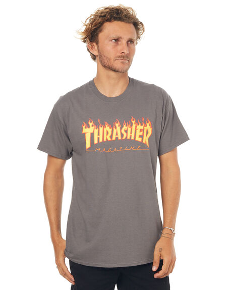 CHARCOAL MENS CLOTHING THRASHER TEES - 20065193CHAR