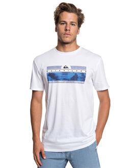 WHITE MENS CLOTHING QUIKSILVER TEES - EQYZT05267-WBB0