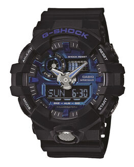 BLACK BLUE MENS ACCESSORIES G SHOCK WATCHES - GA710-1A2BLKBL
