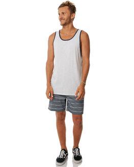 LIGHT GREY HEATHER MENS CLOTHING BILLABONG SINGLETS - 9571501LGH