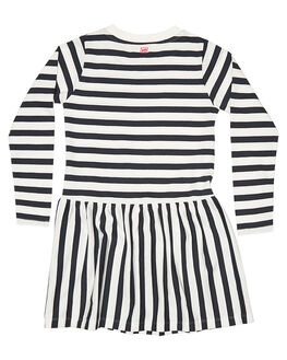 CREAM/BLK STRIPE KIDS TODDLER GIRLS MUNSTER KIDS DRESSES - MM162DR01STR