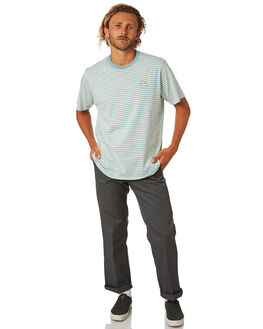 TURQUOISE MENS CLOTHING NO NEWS TEES - N5202003TURQ