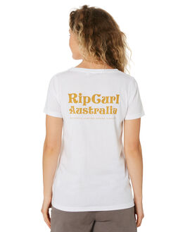 WHITE WOMENS CLOTHING RIP CURL TEES - GTEDK21000