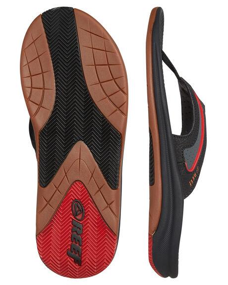 BLACK GUM RED MENS FOOTWEAR REEF THONGS - 2444BGR