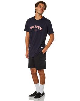 BLACK MENS CLOTHING HUFFER SHORTS - MST83S5601BLK