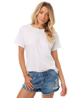 WHITE WOMENS CLOTHING ASSEMBLY TEES - AW-S1701CLD