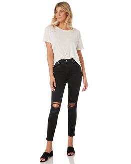 BUSTED BLACK WOMENS CLOTHING NEUW JEANS - 37579-459
