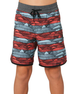 AURORA GREEN KIDS BOYS HURLEY BOARDSHORTS - AQ8000-323