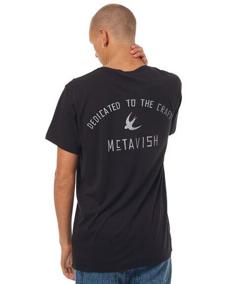 BLACK MENS CLOTHING MCTAVISH TEES - MW-17T-07BLA