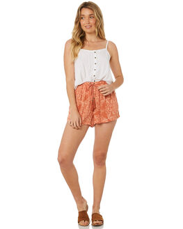 RUST PAISLEY WOMENS CLOTHING O'NEILL SHORTS - 4722106RUST