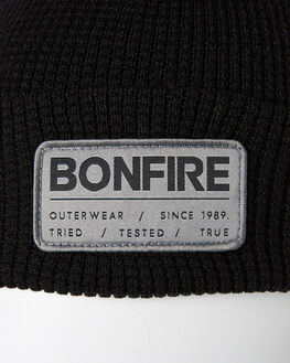 BLACK MENS ACCESSORIES BONFIRE HEADWEAR - BKMAANG-BLKBLK