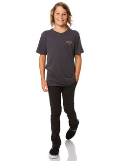 WASHED BLACK KIDS BOYS RIP CURL PANTS - KPADF18264
