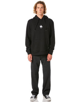BLACK MENS CLOTHING AFENDS JUMPERS - M182512BLK