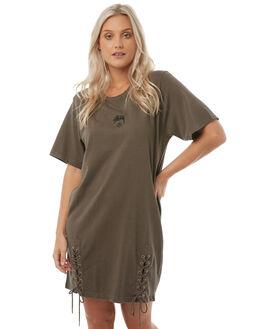 DARK EARTH WOMENS CLOTHING STUSSY DRESSES - ST185501DRKE