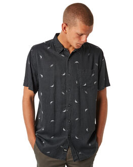 BLACK MENS CLOTHING GLOBE SHIRTS - GB01814011BLK