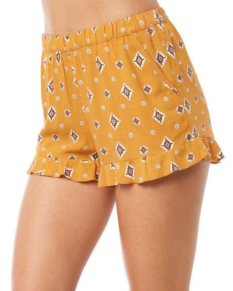MUSTARD WOMENS CLOTHING TIGERLILY SHORTS - T381303MUST