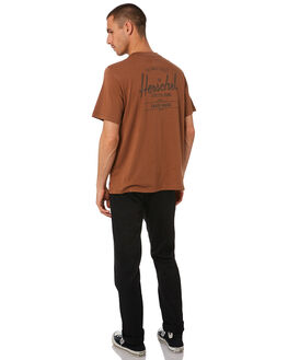 SADDLE BROWN MENS CLOTHING HERSCHEL SUPPLY CO TEES - 50027-00469