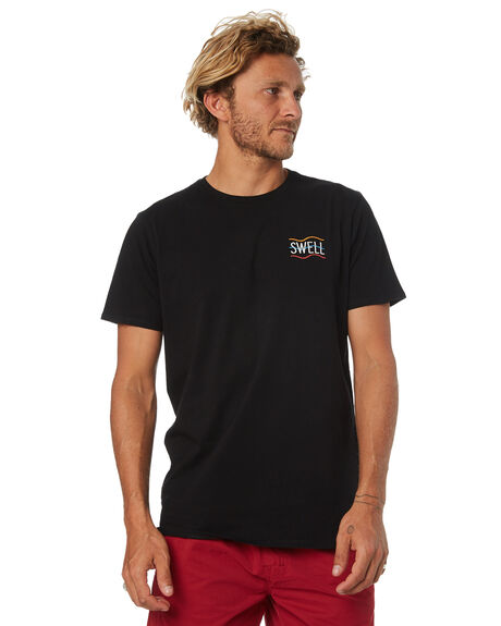 BLACK MENS CLOTHING SWELL TEES - S5184038BLACK