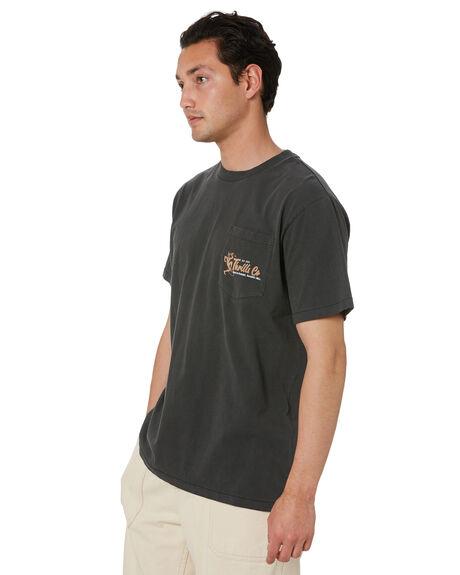 MERCH BLACK MENS CLOTHING THRILLS TEES - TS20-132BMMBK