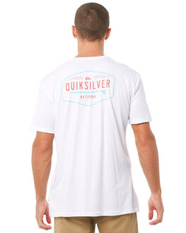 WHITE MENS CLOTHING QUIKSILVER TEES - EQMZT03077WBB0