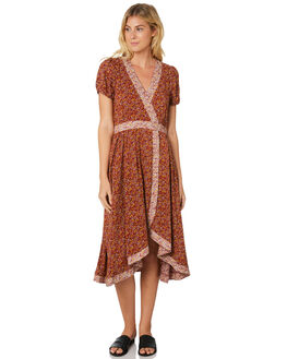 BRANDY WOMENS CLOTHING THE HIDDEN WAY DRESSES - H8189447BRNDY