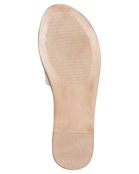 WHITE WOMENS FOOTWEAR ROC BOOTS AUSTRALIA SLIDES - BAMBOOWHT