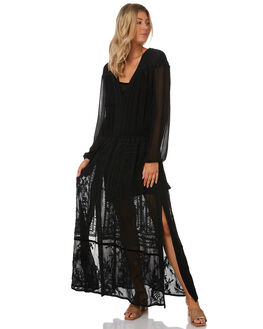BLACK WOMENS CLOTHING TIGERLILY DRESSES - T391406BLK