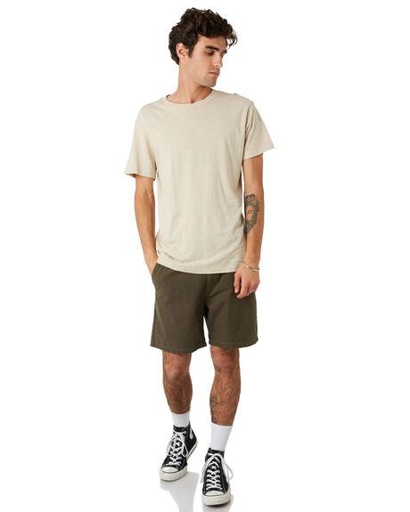 DEEP OLIVE MENS CLOTHING RHYTHM SHORTS - JAN20M-WS01-OLI