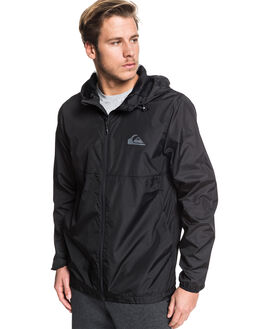 BLACK MENS CLOTHING QUIKSILVER JACKETS - EQYJK03521-KVJ0