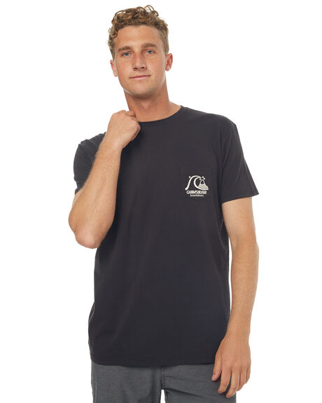 BLACK MENS CLOTHING QUIKSILVER TEES - EQYZT04598KVJ0