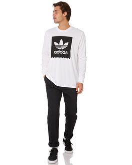 WHITE BLACK MENS CLOTHING ADIDAS TEES - DU8333WHT