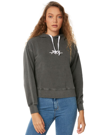 WASHED BLACK WOMENS CLOTHING RVCA JUMPERS - R283160WBLK