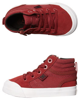 DEEP RED KIDS TODDLER BOYS DC SHOES FOOTWEAR - ADTS300023DRD