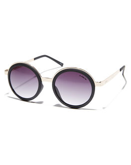 GOLD MATT BLACK WOMENS ACCESSORIES LIIVE VISION SUNGLASSES - L0588AGLDBK