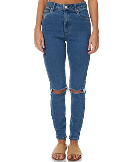 BUSTED BILLIE BLUE WOMENS CLOTHING A.BRAND JEANS - 707592631