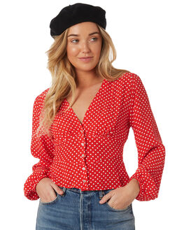 RED WOMENS CLOTHING FREE PEOPLE FASHION TOPS - OB8464866600