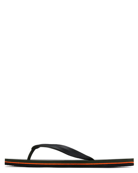 OLIVE BLACK MENS FOOTWEAR RIP CURL THONGS - TCTA664175