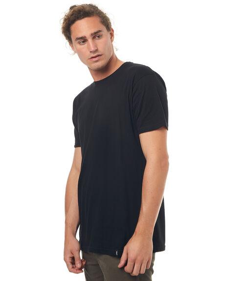 BLACK MENS CLOTHING HUF TEES - TS00053BLK