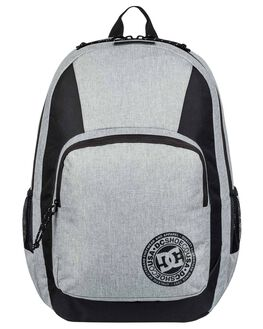 GREY HEATHER MENS ACCESSORIES DC SHOES BAGS + BACKPACKS - EDYBP03176-KNFH