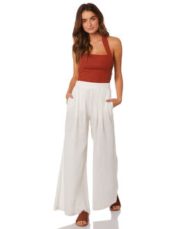 WHITE WOMENS CLOTHING TIGERLILY PANTS - T395377WHT