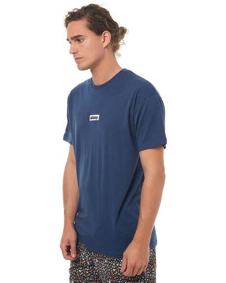 BLUE MENS CLOTHING STUSSY TEES - ST072011BLUE